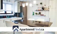 Kitchen of this 2 bedroom apartment ottawa - 198 Lavergne Street