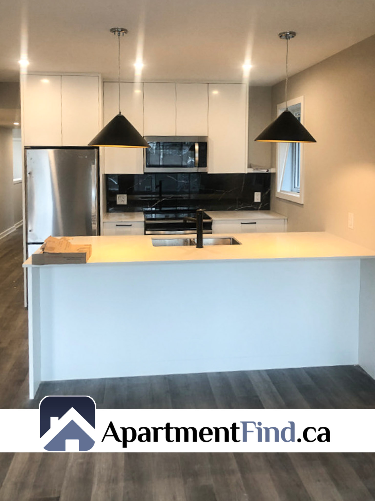Brand new and luxury kitchen of this condo for rent in westboro