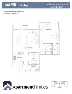 180Mill.1BedroomDen Type1